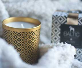 Bougie hiver, cocooning
